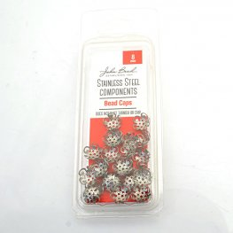 Bead Cap Classic Lacey 8mm - Stainless Steel (24)