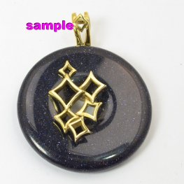 Bail - Diamond Squares for 14mm Hole Donut - Bright Brass