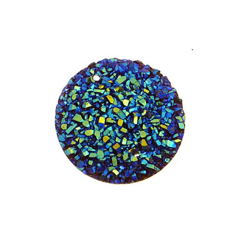 Resin - Fashion Cabochon - 22 mm Round - Galactic Sugar (10) (Bulk pack)