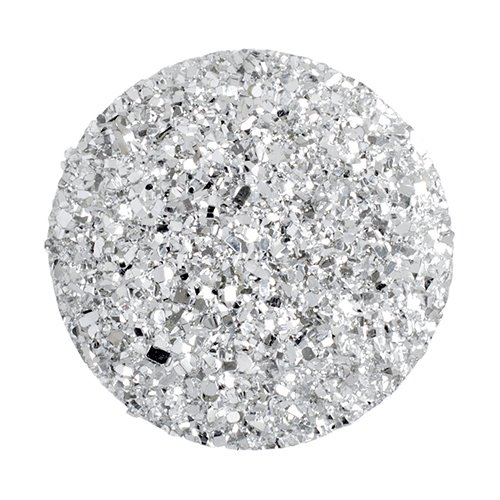 Resin - Fashion Cabochon - 34 mm Round - Silver Sugar (10) (Bulk pack)