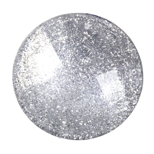 Resin - Fashion Cabochon - 33 mm Faceted Round - Ice Mist (10) (Bulk pack)