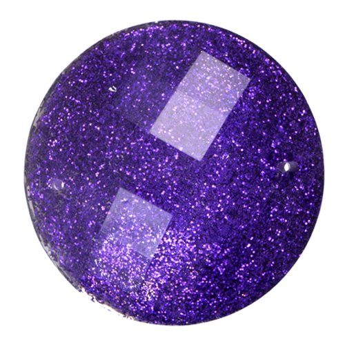 Resin - Fashion Cabochon - 33 mm Faceted Round - Grape Mist (10) (Bulk pack)