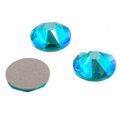 Swarovski Rhinestones - SS 30 Xirius Rose Flatback NOT Hot Fix (2088) - Blue Zircon Shimmer (72)
