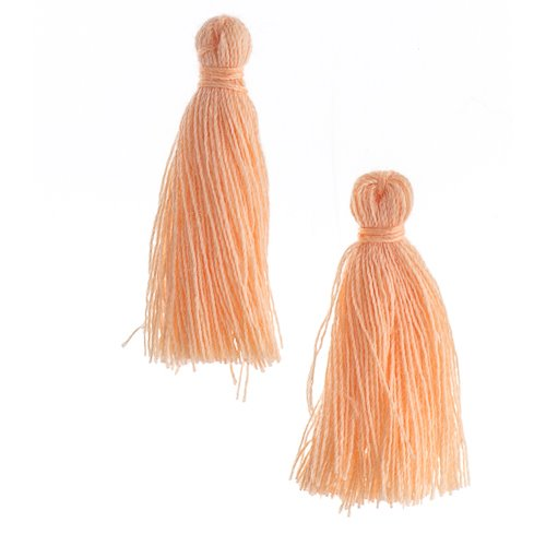 Components - 1 in Cotton Tassels - Light Peach (Pack of 20)
