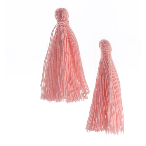 Components - 1 in Cotton Tassels - Rosewater (Pack of 20)