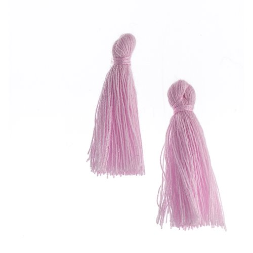 Components - 1 in Cotton Tassels - Lavender (Pack of 20)