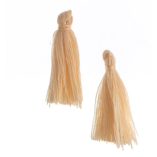 Components - 1 in Cotton Tassels - Ecru (Pack of 20)