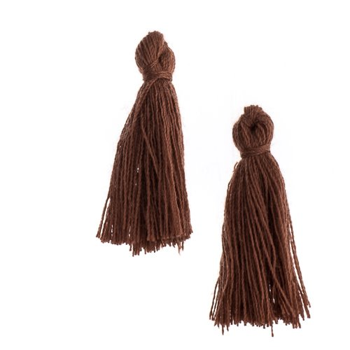 Components - 1 in Cotton Tassels - Light Brown (Pack of 20)
