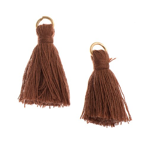 Components - 1 in Poly Cotton Tassels - Brown (Pack of 10)