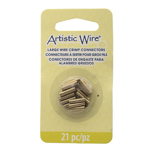 Findings - Assorted Sizes - Crimp Tubes for Wire - Brass (Pack)