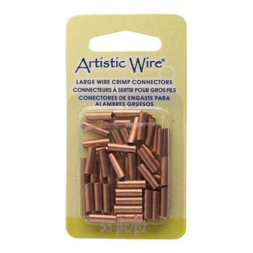 Findings - 12 gauge Crimp Tubes for Wire - Copper (Pack)
