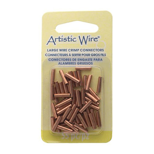 Findings - 14 gauge Crimp Tubes for Wire - Copper (Pack)