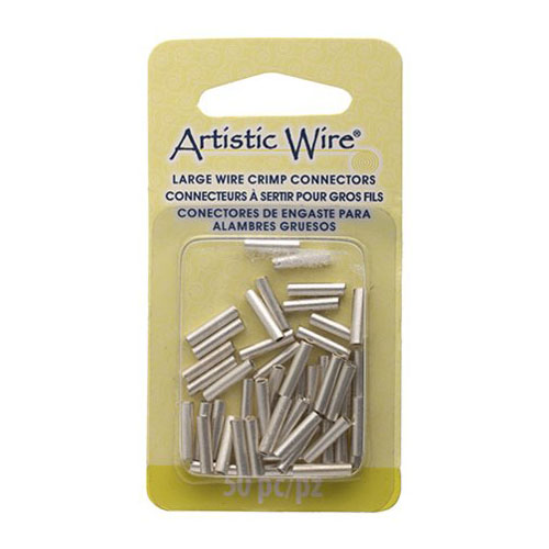 Findings - 16 gauge Crimp Tubes for Wire - Silver (Pack)