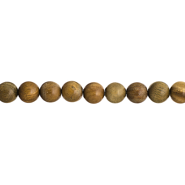 Wood Beads - 6 mm Round Sandalwood - Light Green (strand)
