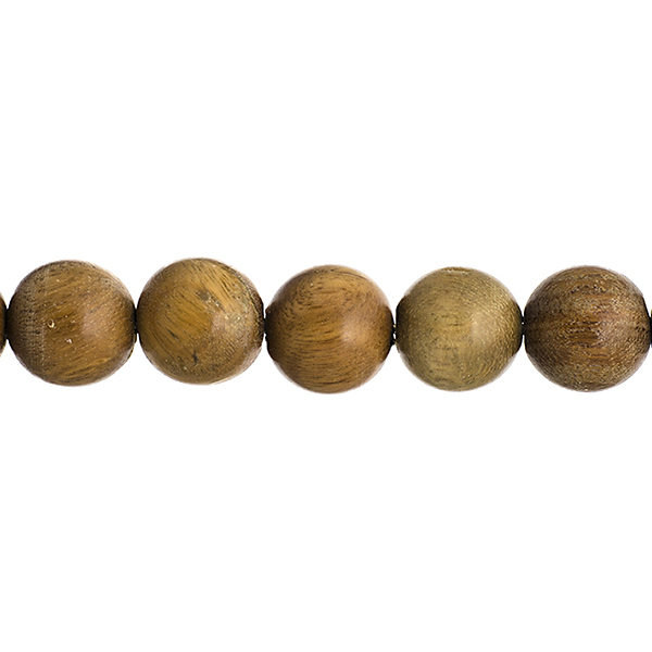 Wood Beads - 10 mm Round Sandalwood - Light Green (strand)