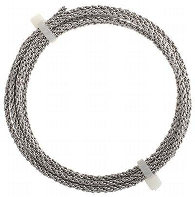 Artistic Wire - 12 gauge Braided Wire - Stainless Steel (Pack)