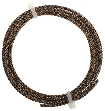 Artistic Wire - 12 gauge Braided Wire - Antiqued Brass (Pack)