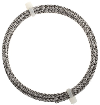 Artistic Wire - 14 gauge Braided Wire - Stainless Steel (Pack)