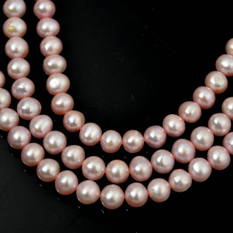 Freshwater Pearls - 5 mm Near Round Pearl - Pink (strand)