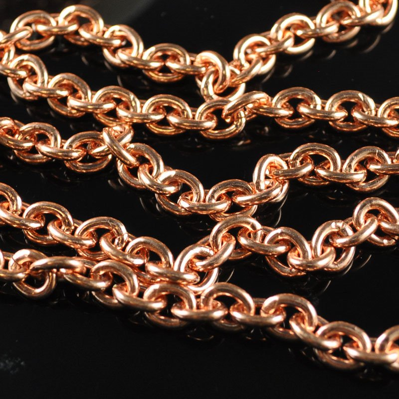 Chain - 6 x 8 mm Oval Link Chain - Bright Copper (1 foot)