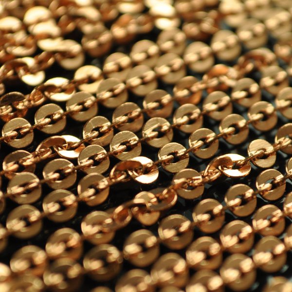 Metal Chain - 3 mm Flat Oval Links - Copper (1 foot)