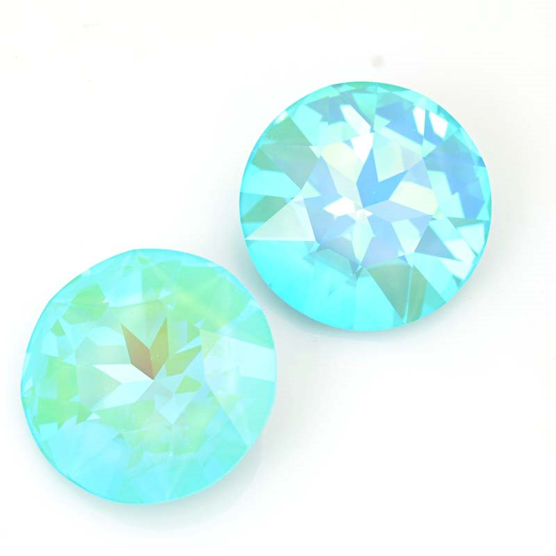 Swarovski Fancy Rhinestones - 27mm Faceted Round (1201) - Ultra Turquoise AB