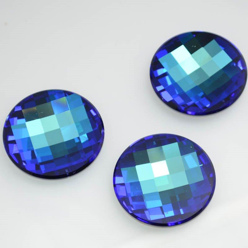 1172035s38896 Swarovski Elements Rhinestones - 40 mm Reversed Chessboard Circle (2035) - Bermuda Blue (1)