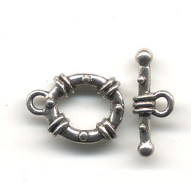 23401006 Findings - Clasps - Toggle - 12 mm Classic Stationed - Pewter (1)