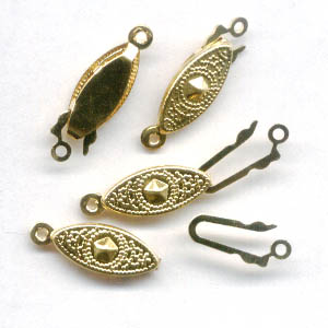 23409928 Findings - Clasps - 17 mm Sliding Safety Clasp - Goldtone (10)