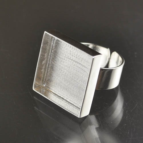 24901020-00 Findings - 21 mm Square Bezel Ring - Silverplated (1)