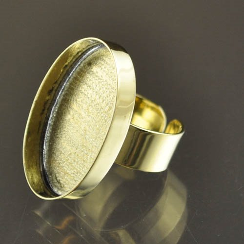24901022-02 Findings - 20 x 31 mm Oval Bezel Ring - Brass (1)