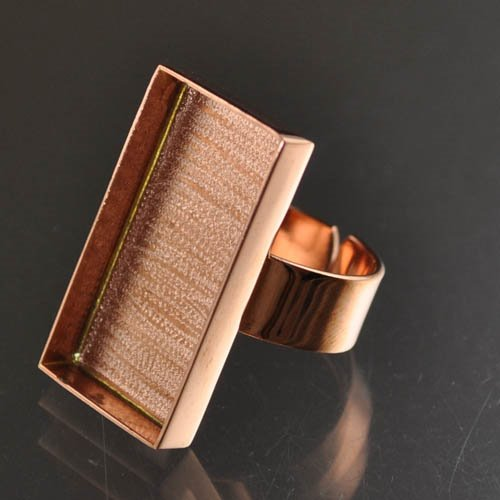 "24901023-04 Findings - 16 x 29 mm Rectangle Bezel Ring - Copper <font color=""#FF0000"">Managers LAST CALL </font> 80% off!"