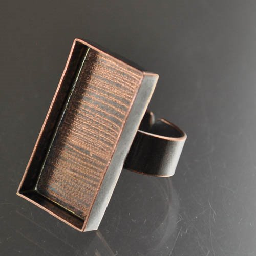 """24901023-05 Findings - 16 x 29 mm Rectangle Bezel Ring - Antique Copper <font color=""""#FF0000"""">Managers LAST CALL </font> 80% off!"""