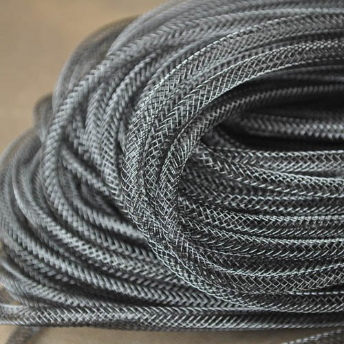 25402500-01 Stringing - 4 mm Nylon Mesh Tube - Black (50 meters) (Bulk pack)