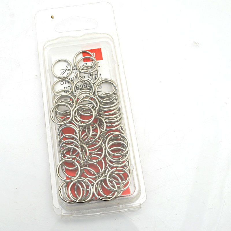 26001400-07 Findings - 10mm Jumprings  - Stainless Steel (75)