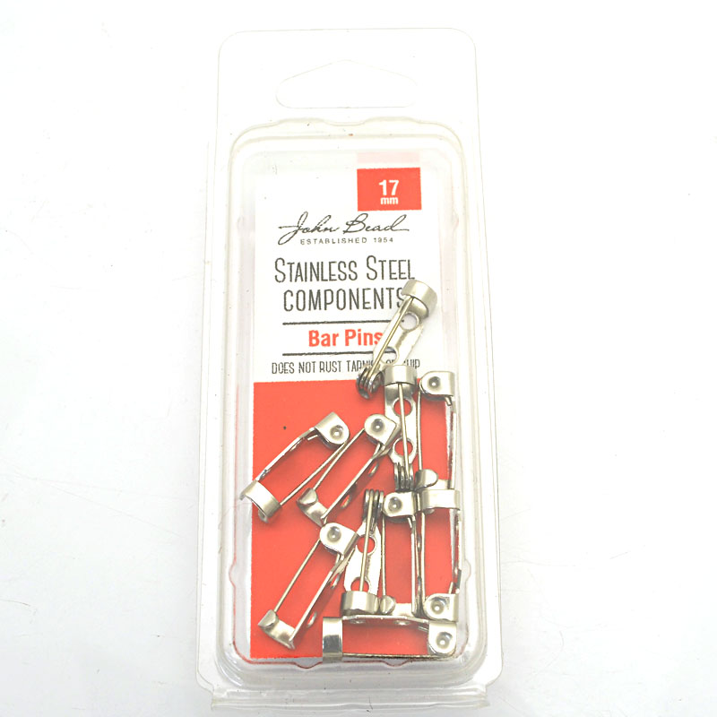 26001400-39 Findings - 17mm Bar Pin Brooch - Stainless Steel (10)