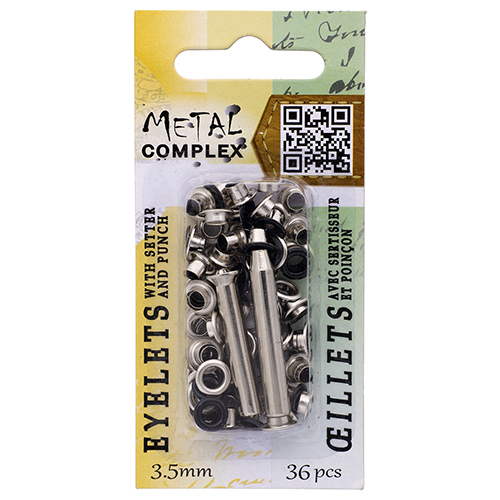 26037251-02 Riveting Supplies - 3.5 mm Eyelets - Gunmetal (36)