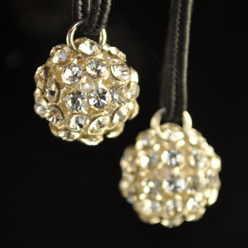 """26740512P0001 Rhinestone Bead - 12 mm Crystal Mesh Ball Pendant - Crystal <font color=""""#FF0000"""">Managers LAST CALL </font> 80% off!"""