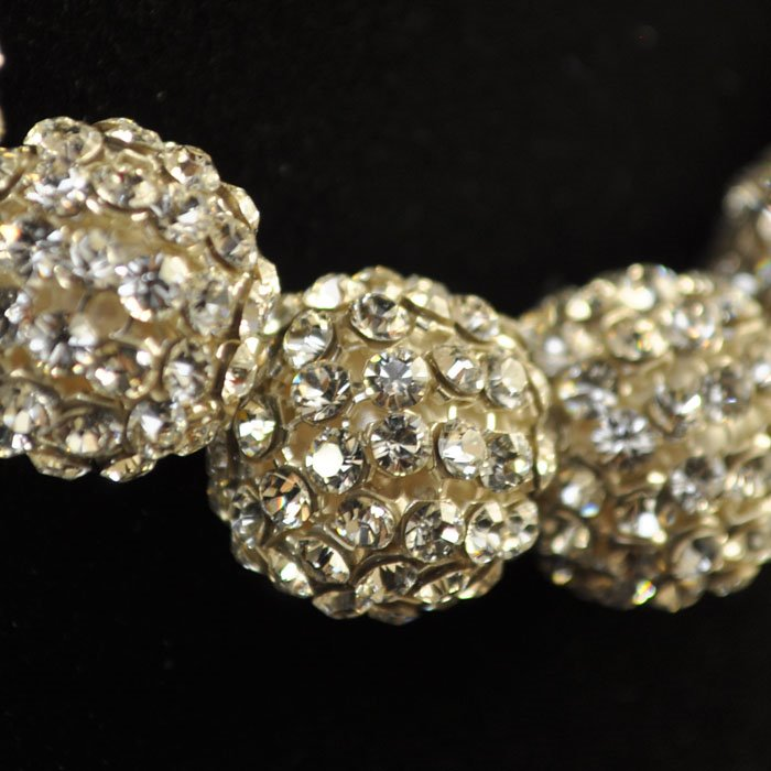 """26740515B0001 Rhinestone Bead - 15 mm Crystal Mesh Ball Bead - Crystal <font color=""""#FF0000"""">Managers LAST CALL </font> 80% off!"""