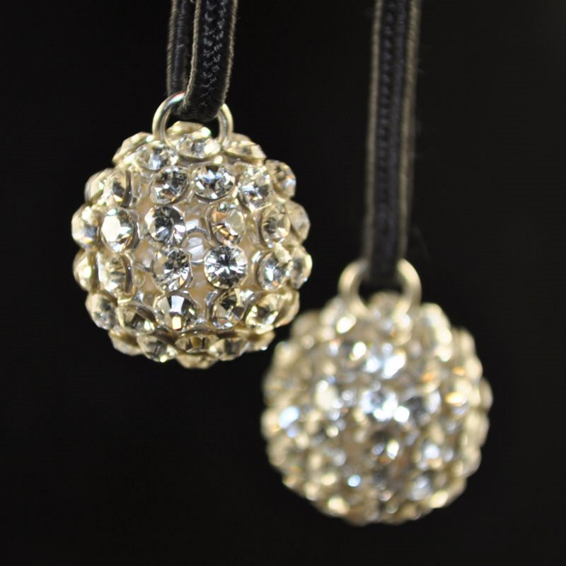 """26740515P0001 Rhinestone Bead - 15 mm Crystal Mesh Ball Pendant - Crystal <font color=""""#FF0000"""">Managers LAST CALL </font> 80% off!"""