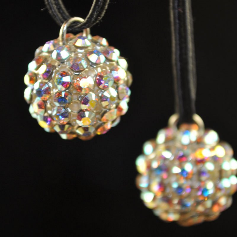 "26740515P1001 Rhinestone Bead - 15 mm Crystal Mesh Ball Pendant - Crystal AB <font color=""#FF0000"">Managers LAST CALL </font> 80% off!"