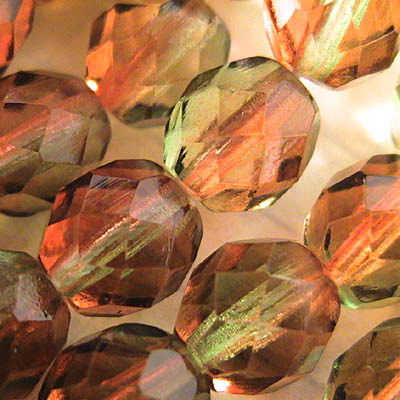 27001759-08 Firepolish - 8 mm Faceted Round - The Evil Queen
