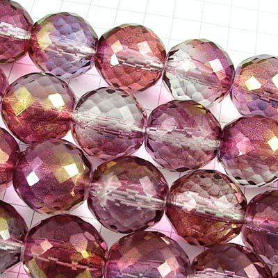 27002014-01 Firepolish - 14 mm Rich Cut Round - Crystal Purple (1)