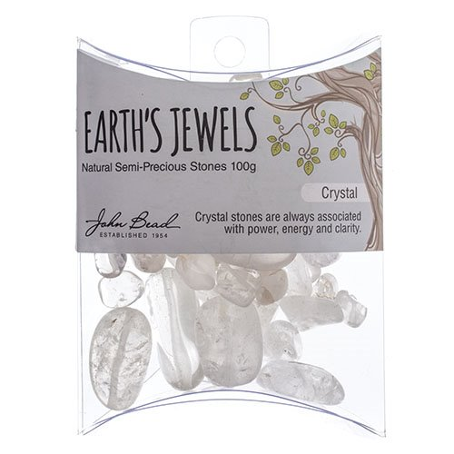 27600650-08 Stone Beads - Assorted Earths Jewels - Crystal Quartz Natural (Pack)