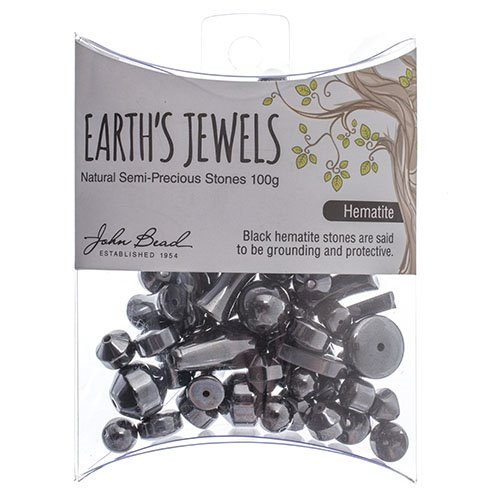 27600650-11 Stone Beads - Assorted Earths Jewels - Hematite Natural (Pack)