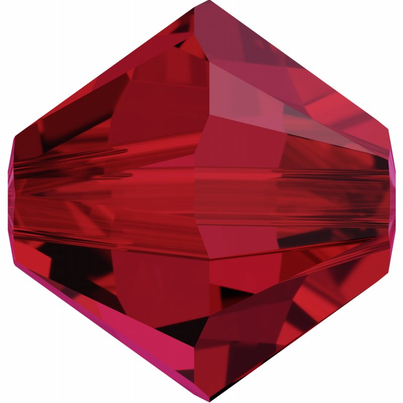 277054-135 Swarovski Bead - 3 mm Faceted Xilion Bicone (5328) - Scarlet (36)