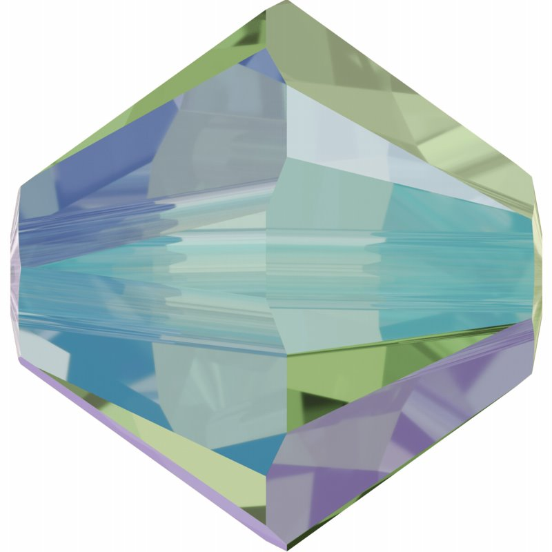 277054-141FP Swarovski Bead - 3 mm Faceted Xilion Bicone (5328) - Erinite Shimmer2 (1440) (Bulk pack)