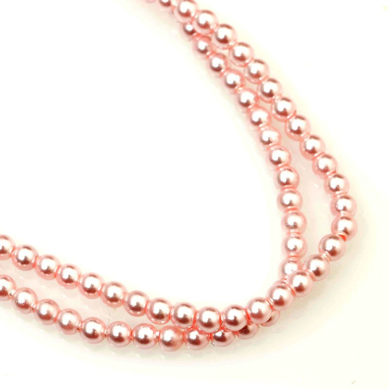 277236-005 Swarovski Pearl - 2 mm Round Pearl (5810) - Rosaline Pearl (200)