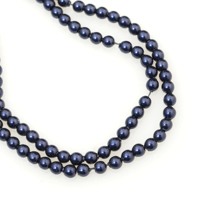 277236-006 Swarovski Pearl - 2 mm Round Pearl (5810) - Night Blue Pearl (200)