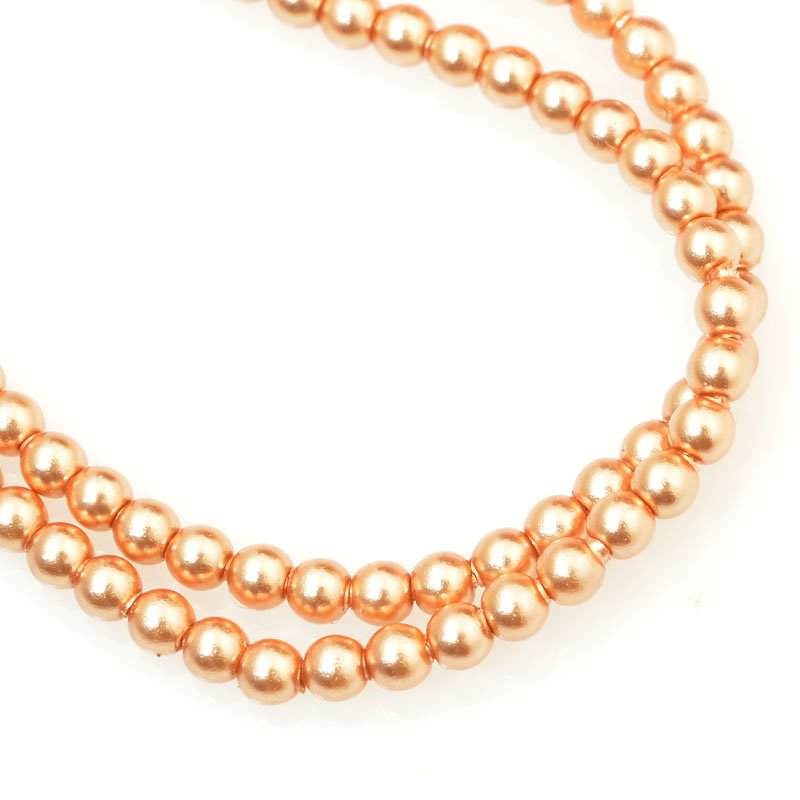 277236-011 Swarovski Pearl - 2 mm Round Pearl (5810) - Rose Gold Pearl (200)